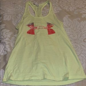 Neon Yellow Under Armour Tank Top